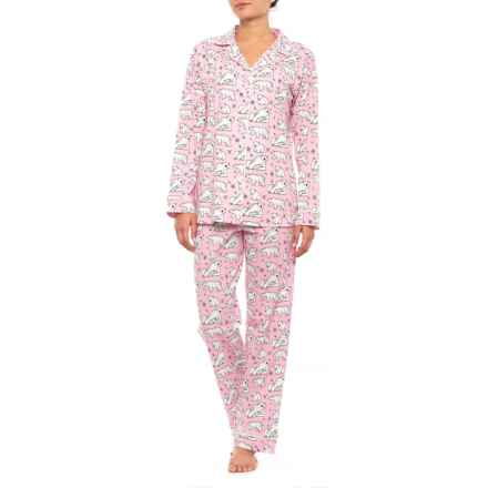 BedHead Patterned Knit Pajamas - Long Sleeve (For Women) in 7542B Pink Polar Bear - Closeouts