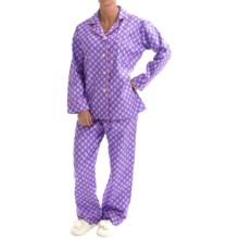 BedHead Printed Cotton Poplin Pajamas - Long Sleeve (For Women) in Baked W/Love Purple - Closeouts