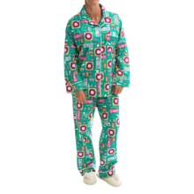 BedHead Printed Cotton Poplin Pajamas - Long Sleeve (For Women) in Beatbox Bright - Closeouts