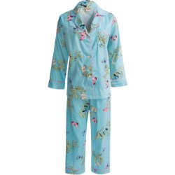 Bedhead Printed Cotton Sateen Pajamas - 300 Thread Count, Long Sleeve (For Women) in Blue Firenze