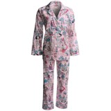 Bedhead Printed Cotton Sateen Pajamas - 300 Thread Count, Long Sleeve (For Women)