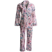 Bedhead Printed Cotton Sateen Pajamas - 300 Thread Count, Long Sleeve (For Women) in Lil Tokyo Pink - Closeouts