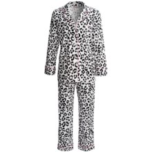 Bedhead Printed Cotton Sateen Pajamas - 300 Thread Count, Long Sleeve (For Women) in Paws - Closeouts