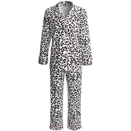 Bedhead Printed Cotton Sateen Pajamas - 300 Thread Count, Long Sleeve (For Women) in Paws