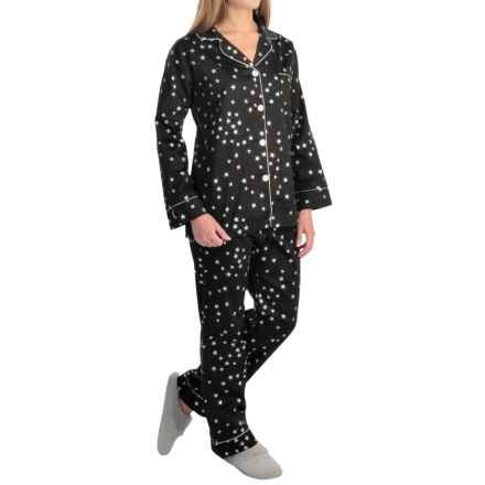 Bedhead Printed Cotton Sateen Pajamas - Long Sleeve (For Women) in Black Big Dipper - Closeouts