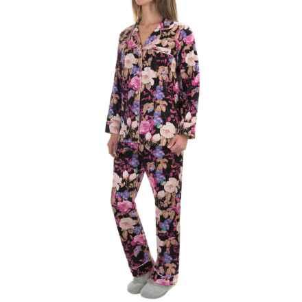 Bedhead Printed Cotton Sateen Pajamas - Long Sleeve (For Women) in Noir Closet Romantic - Closeouts