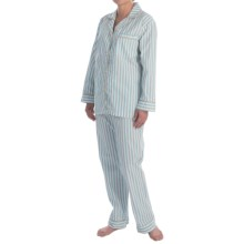 Bedhead Printed Cotton Sateen Pajamas - Long Sleeve (For Women) in Purple Pinstripes - Closeouts