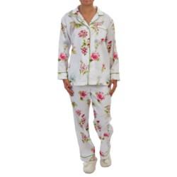 Bedhead Printed Cotton Sateen Pajamas - Long Sleeve (For Women) in Vanilla New York Botanical