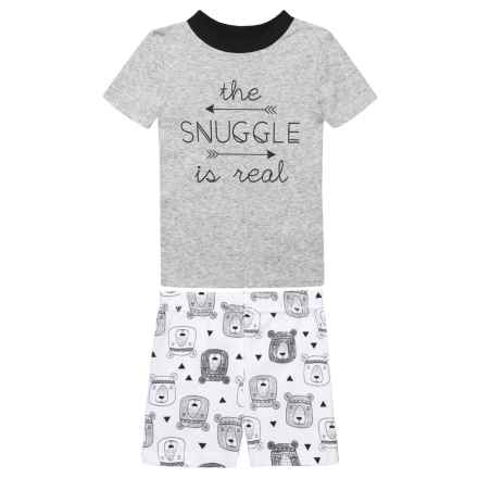 BedHead The Snuggle is Real Pajamas - Short Sleeve (For Kids) in Black/White - Closeouts