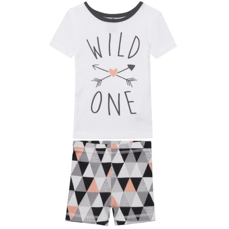 BedHead Wild One Pajamas - Short Sleeve (For Kids) in Black/White