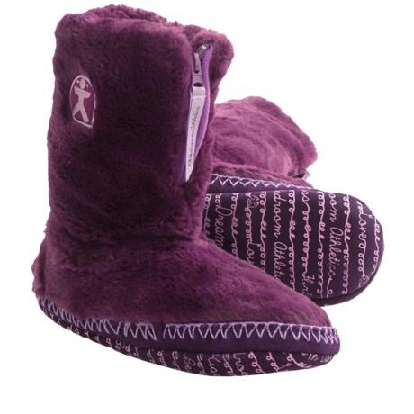 Bedroom Athletics Marilyn Boot Slippers (For Women) in Plum