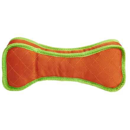 BeGood Mega Ruffs Bone Dog Toy in Orange - Closeouts