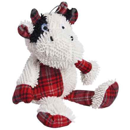 BeGood Plush Tartan Dog Toy in Cow - Closeouts