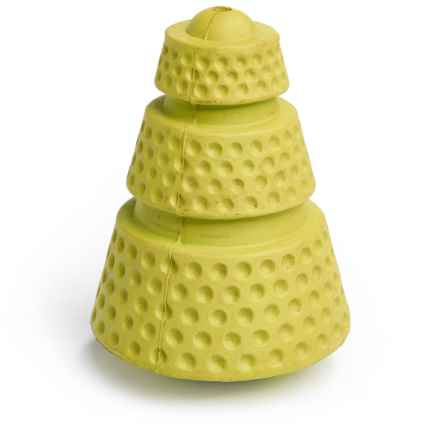 BeGood Rubber Cone Dog Toy in Yellow - Closeouts