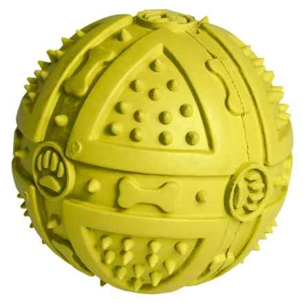 BeGood Rubber Squeaky Ball Dog Toy in Yellow - Closeouts