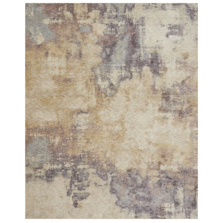 Image of Beige and Berry Tile-Look Textured Area Rug - 5x8?