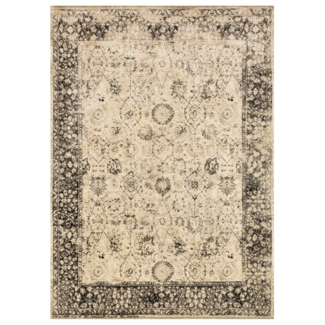 Image of Beige and Smoke Contemporary-Look Area Rug - 5?x7?6? Viscose