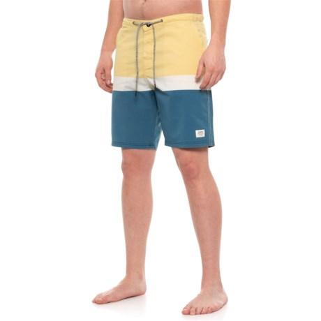Image of Beige Stanley Swim Trunks (For Men)