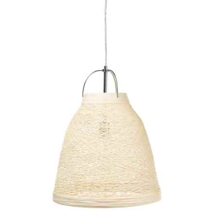 BelAir Lighting Paper Yarn Chandelier in Taupe - Closeouts