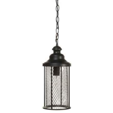 BelAir Lighting Stewart Outdoor Large Hanging Mesh Lantern   20.5u201d In Black    Closeouts