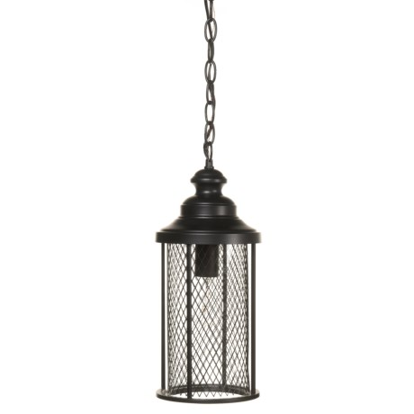 "BelAir Lighting Stewart Outdoor Large Hanging Mesh Lantern - 20.5"" in Black"