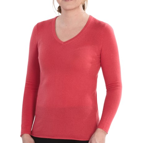 Belford Cashmere Sweater - V-Neck (For Women) in White