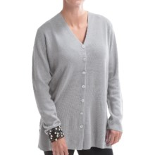 Belford Milano Silk Cardigan Sweater (For Women) in Ash - Closeouts
