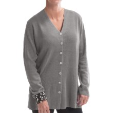 Belford Milano Silk Cardigan Sweater (For Women) in Steel - Closeouts