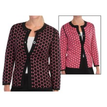 Belford Silk Dot Cardigan Jacket - Reversible (For Women) in Chrysanth - Closeouts
