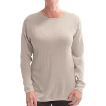 Belford Silk Jewel Neck Sweater (For Women) in Beige - Closeouts