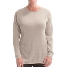 Belford Silk Jewel Neck Sweater (For Women) in Beige - Closeouts