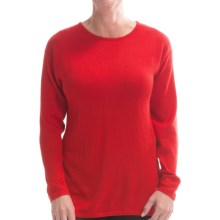 Belford Silk Jewel Neck Sweater (For Women) in Red - Closeouts