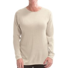 Belford Silk Jewel Neck Sweater (For Women) in White - Closeouts