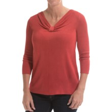 Belford Silk Knotted V-Neck Sweater (For Women) in Desert Rose - Closeouts