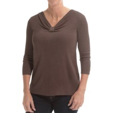 Belford Silk Knotted V-Neck Sweater (For Women) in Soil - Closeouts