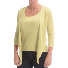 Belford Silk Wrap Cardigan Sweater (For Women) in Citronella - Closeouts