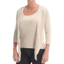 Belford Silk Wrap Cardigan Sweater (For Women) in Talc - Closeouts