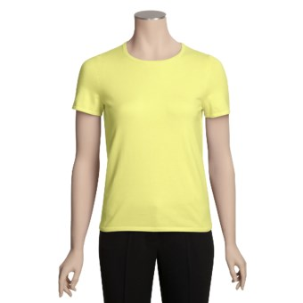 Belford Stretch Cotton Shirt - Pima Cotton, Short Sleeve (For Women) in Citrine