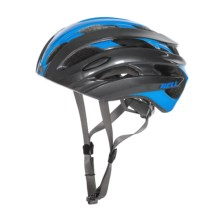Bell Event Road Bike Helmet (For Men and Women) in Blue/Charcoal Road Block - Closeouts