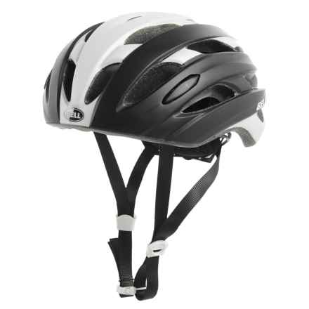 Bell Event Road Bike Helmet (For Men and Women) in Matte Black/White Road Block - Closeouts