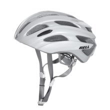 Bell Event Road Bike Helmet (For Men and Women) in White/Silver Road Block - Closeouts