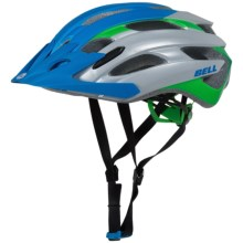 Bell Event XC Mountain Bike Helmet (For Men and Women) in Matte Blue/Kryptonite Superficial - Closeouts