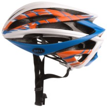 Bell Gage Cycling Helmet (For Men and Women) in Matte White/Orange/Blue Burnout - Closeouts