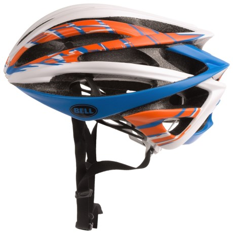 Bell Gage Cycling Helmet (For Men and Women) in Matte White/Orange/Blue Burnout