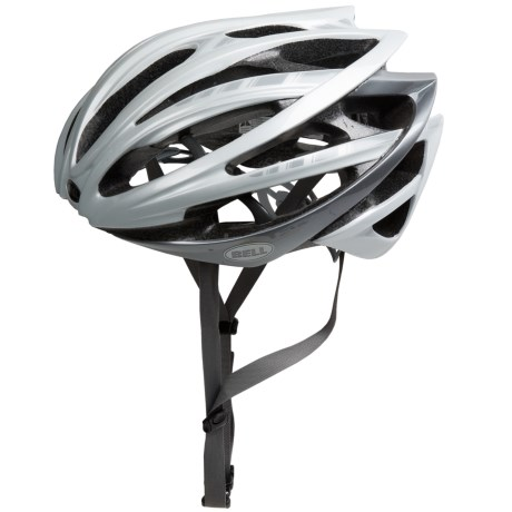 Bell Gage Cycling Helmet (For Men and Women) in White Stripes