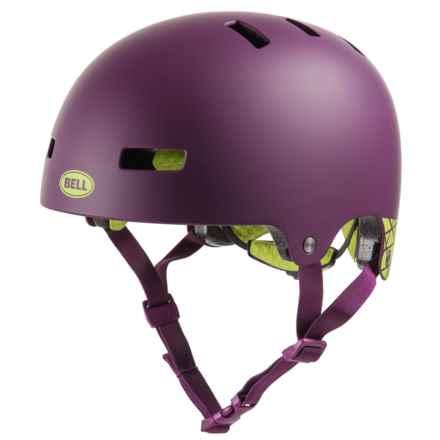 Bell Local-Graphics Bike Helmet (For Men and Women) in Matte Plum Covert - Closeouts