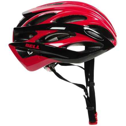 Bell Overdrive Road Bike Helmet (For Men and Women) in Red/Black Hyperdrive - Closeouts