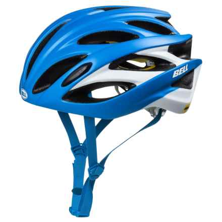 Bell Overdrive Road Bike Helmet - MIPS (For Men and Women) in Matte Force Blue/White - Closeouts