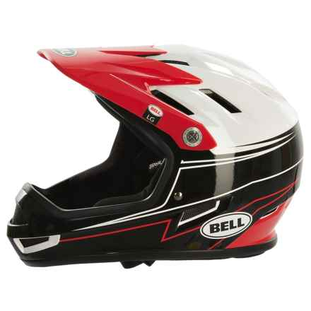 Bell Sanction Full Face Bike Helmet (For Men and Women) in Graphite/Red Line Up - Closeouts