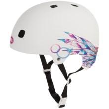 Bell Segment Half Face Bike Helmet (For Men and Women) in Matte White Plume - Closeouts